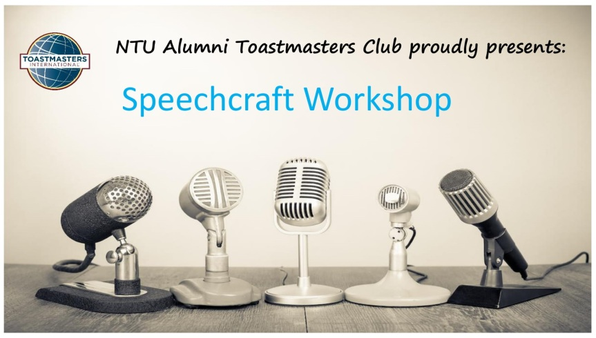 Public Speaking Workshop: Speechcraft